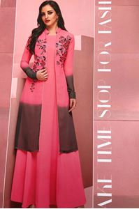 Picture of Hot Pink Glam up KURTI k041