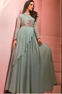 Picture of Dark Grey Glam up Kurti K042