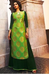 Picture of Pastel Green & Green Tumbaa Kurti K047