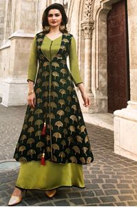 Picture of Green & Spring Green Tumbaa Kurti K050