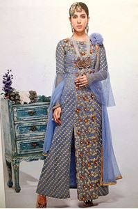 Picture of Steel Blue  Salwar Kameez SS074