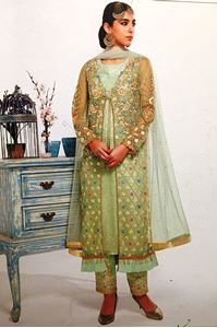 Picture of Mint Salwar Kameez with Jacket SS075