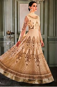 Picture of Floral white Anarkali A160
