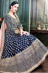 Picture of Dark blue taj Anarkali A162