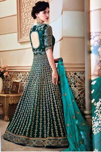 Picture of Seagreen Heavy Royal Anarkali A164