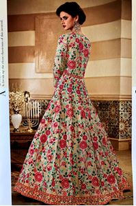 Picture of Floralwhite Heavy Royal Anarkali A165