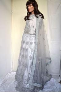 Picture of Light Steel Grey Net Lehenga L006