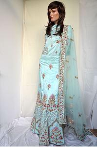 Picture of Aquamarine Silk Lehenga L014