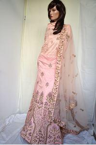 Picture of Light Pink Silk Lehenga L015