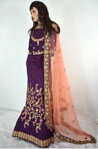 Picture of Dark Violet Silk Lehenga L020