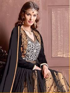 Picture of Ivoryzwart Anarkali A039