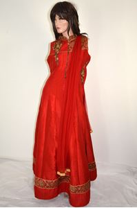 Picture of Deep Red Anarkali A170