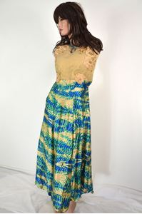 Picture of Blue-Yellow Kurti K055